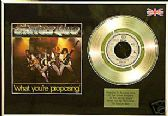 "STATUS QUO - WHAT YOU'RE PROPOSING - 7"" Platinum Disc"